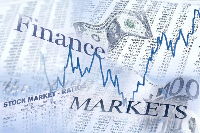 Para cima e para baixo nos mercados financeiros imagens de stock