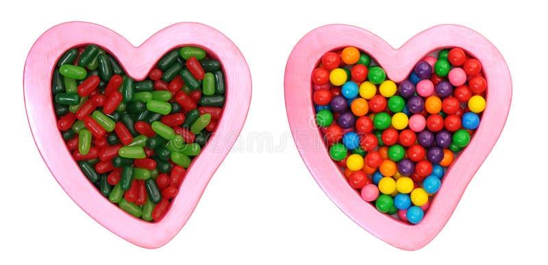 Para cukierku i miłości symbol zdjęcie stock