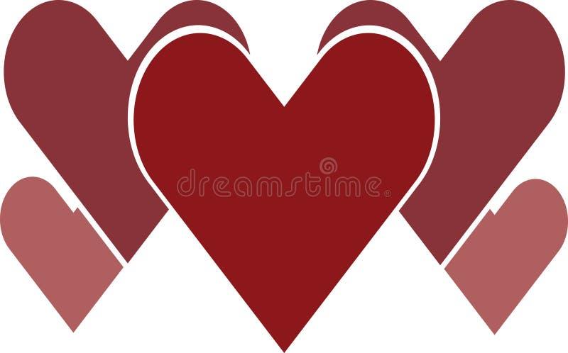 Para czerwony serce logo fotografia stock