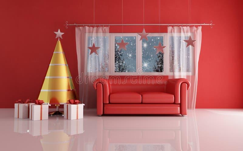 Para día de la Navidad que espera stock de ilustración
