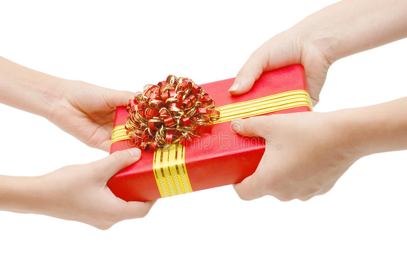 Para dar un regalo imagen de archivo libre de regalías