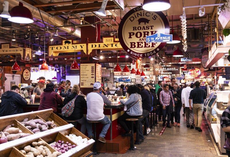 Para dentro de ler o mercado terminal foto de stock royalty free