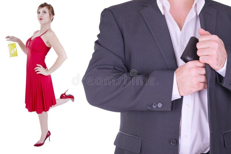 Para dorosły odizolowywający na białym tle obrazy stock