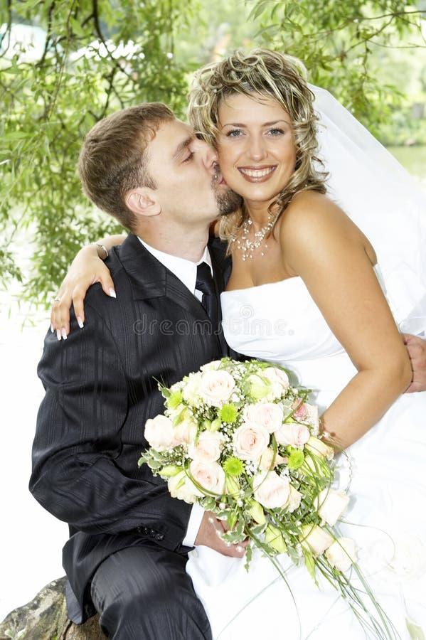 para dzień ich ślub zdjęcia royalty free