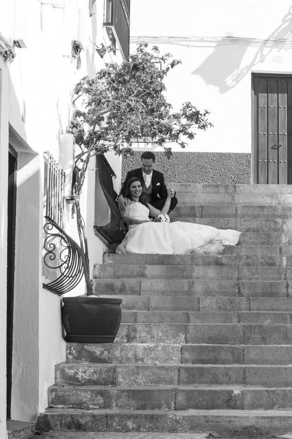 para dzień ich ślubni potomstwa zdjęcia stock