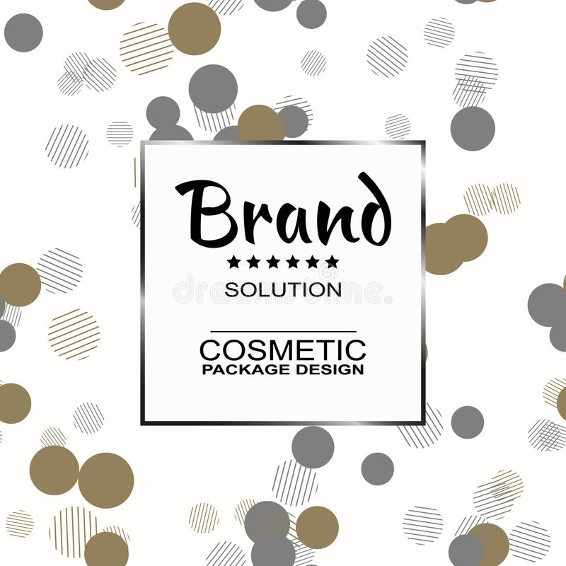 Para el empaquetado cosmético de los productos Textura gráfica elegante de los modelos inconsútiles para su diseño stock de ilustración