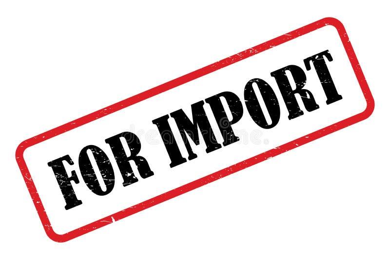 Para el sello de la importación libre illustration