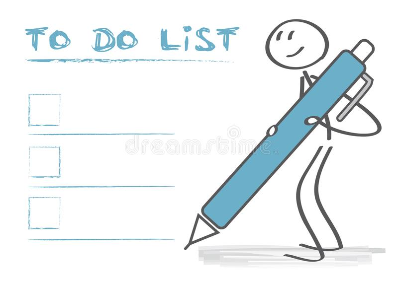 Para fazer a caixa de seleção da lista ilustração do vetor
