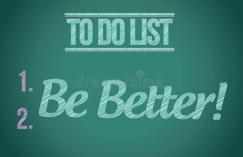 Para fazer a lista seja melhor projeto da ilustração do conceito ilustração stock