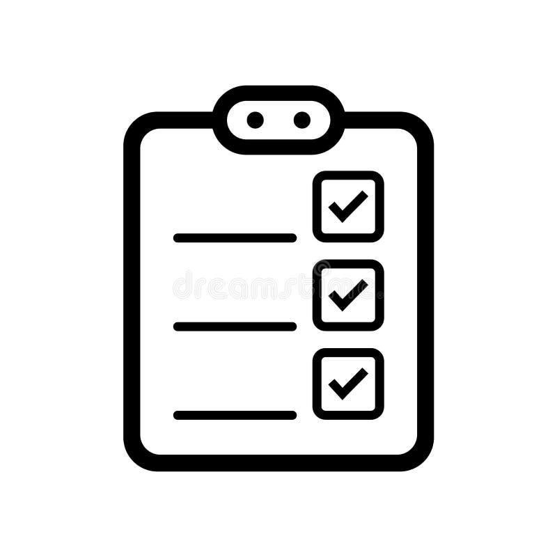para fazer o ícone da lista ilustração stock