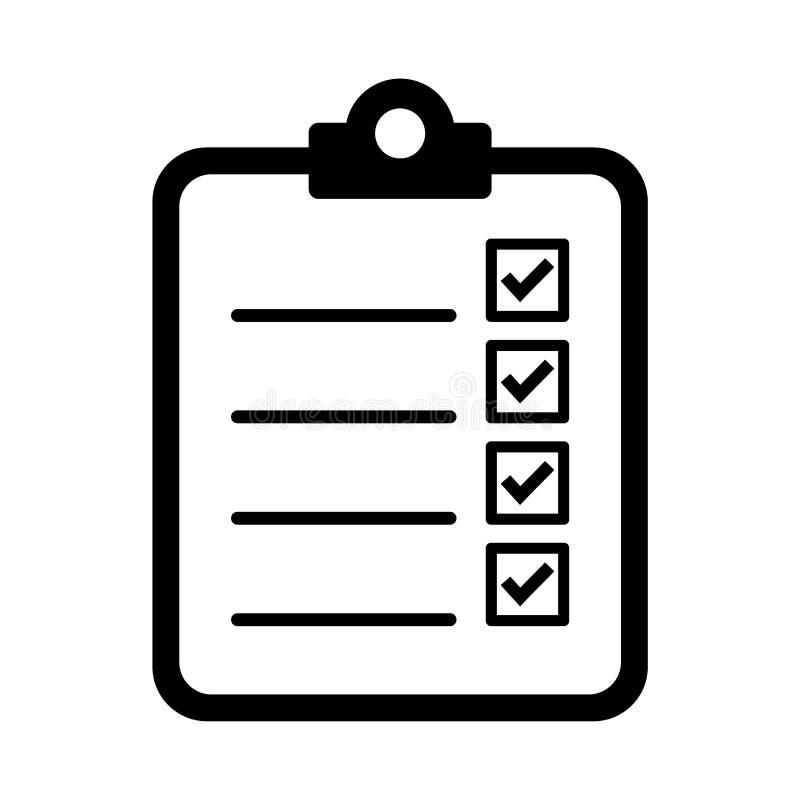 para fazer o ícone da lista ilustração do vetor