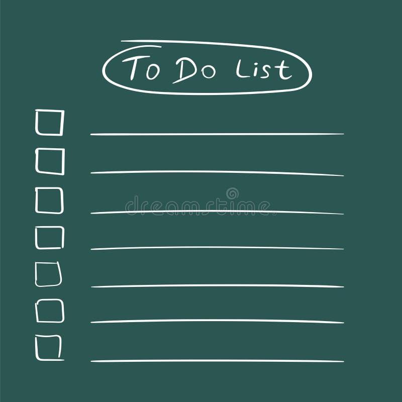 Para fazer o ícone da lista com a mão tirada text Lista de verificação, vecto da lista de tarefa ilustração do vetor