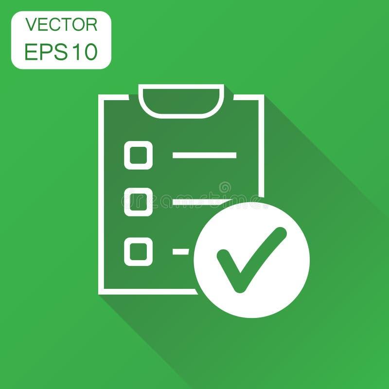 para fazer o ícone da lista Lista de verificação do conceito do negócio, pictograma da lista de tarefa ilustração stock