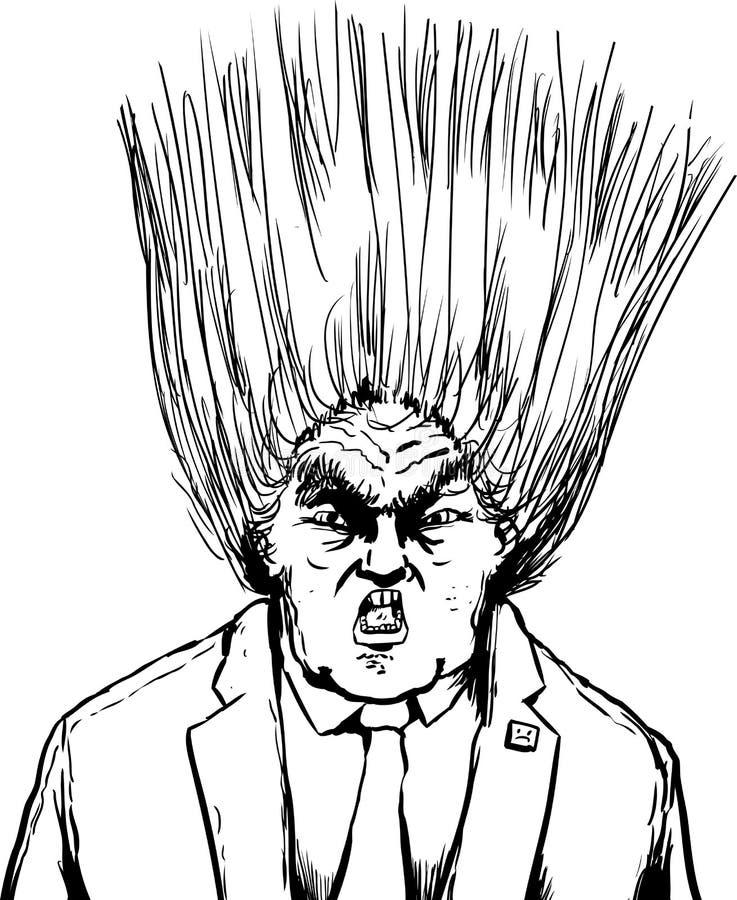 Para fora penteado fundido de Donald Trump ilustração do vetor
