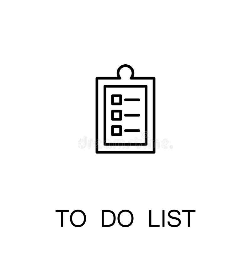 para hacer el icono de la lista stock de ilustración