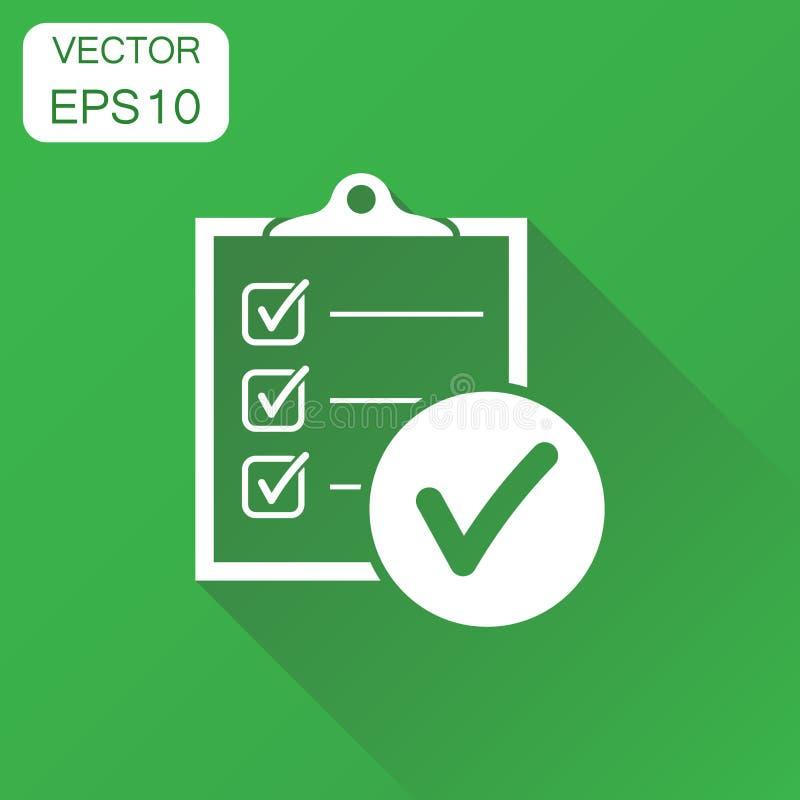 para hacer el icono de la lista Lista de control del concepto del negocio, pictograma de la lista de tarea stock de ilustración