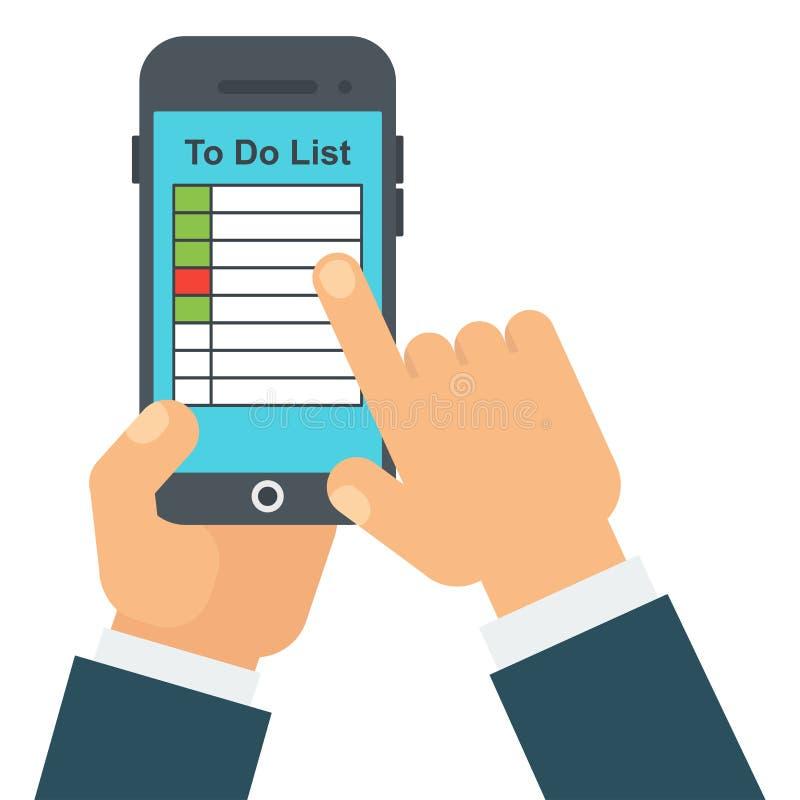 Para hacer el móvil de la lista stock de ilustración