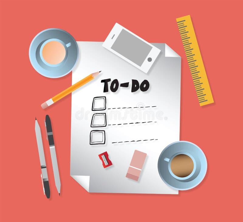 Para hacer la lista con los efectos de escritorio s libre illustration