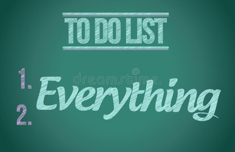 Para hacer todo. para hacer el ejemplo de la lista libre illustration