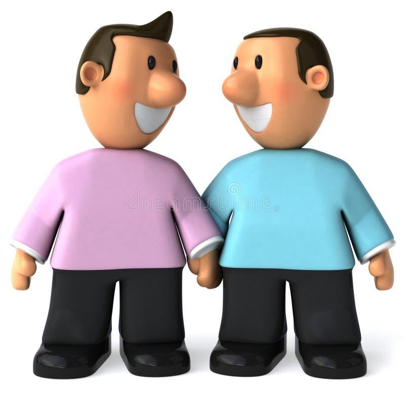 para homoseksualista ilustracja wektor