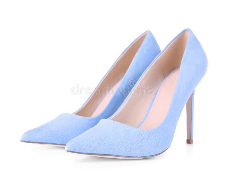 Para klasyk pompy buty odizolowywający obraz royalty free