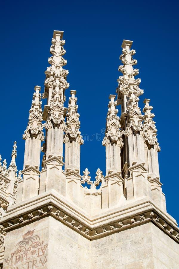Para kościelne iglicy fotografia royalty free