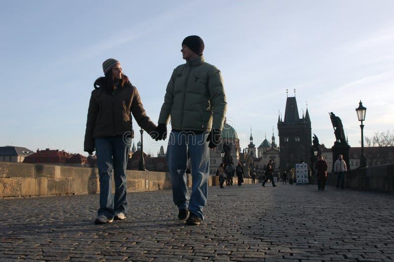 para kocha Prague fotografia royalty free