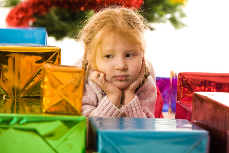 Para la Navidad que espera fotografía de archivo libre de regalías