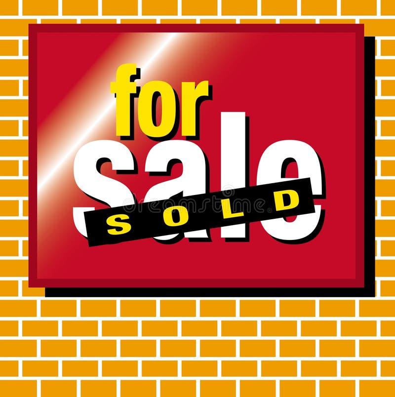 Para la venta vendida ilustración del vector