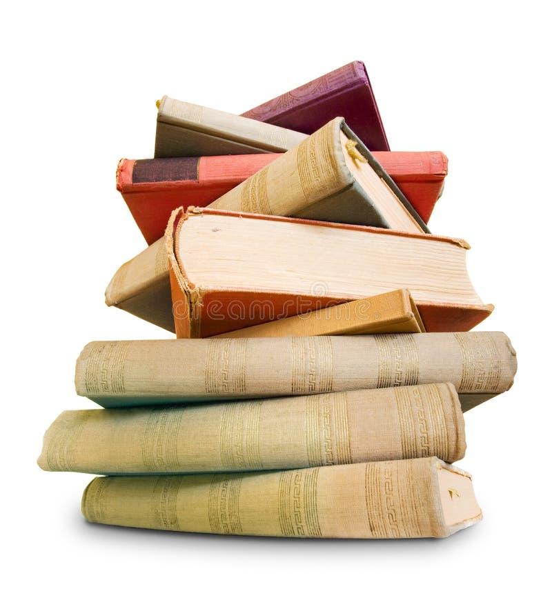 Para ler muito, grande pilha de livros velhos. fotos de stock royalty free