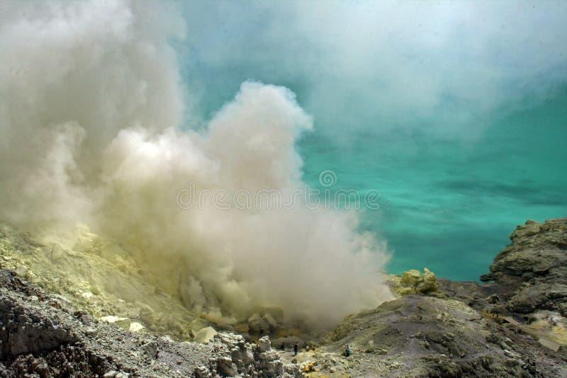 Para lijen el krater imagen de archivo