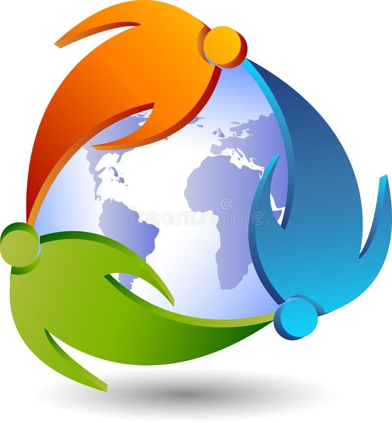 Para logo dookoła świata ilustracja wektor