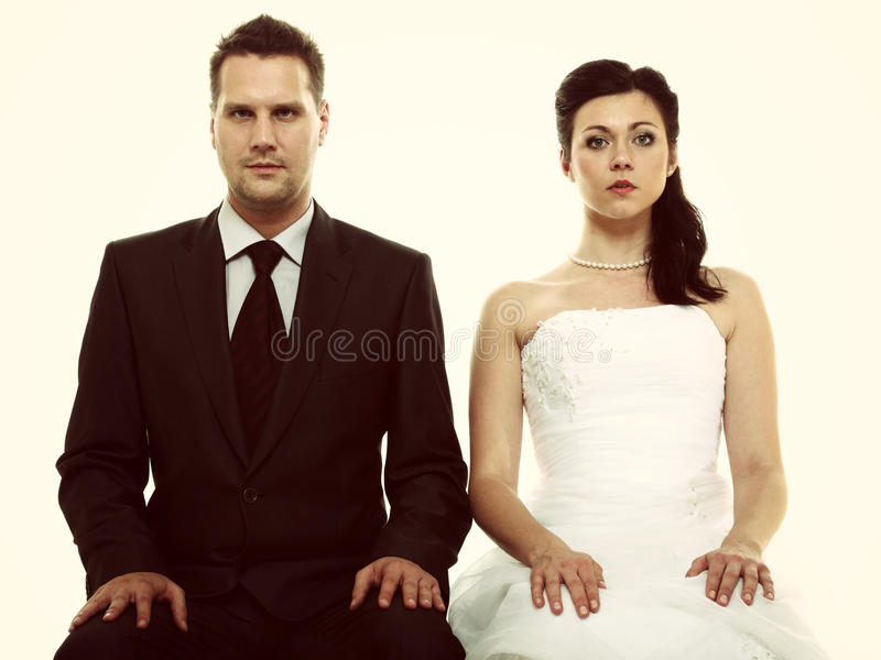 Para małżeńska problem, nieistotności depresji niesnaski zdjęcia stock