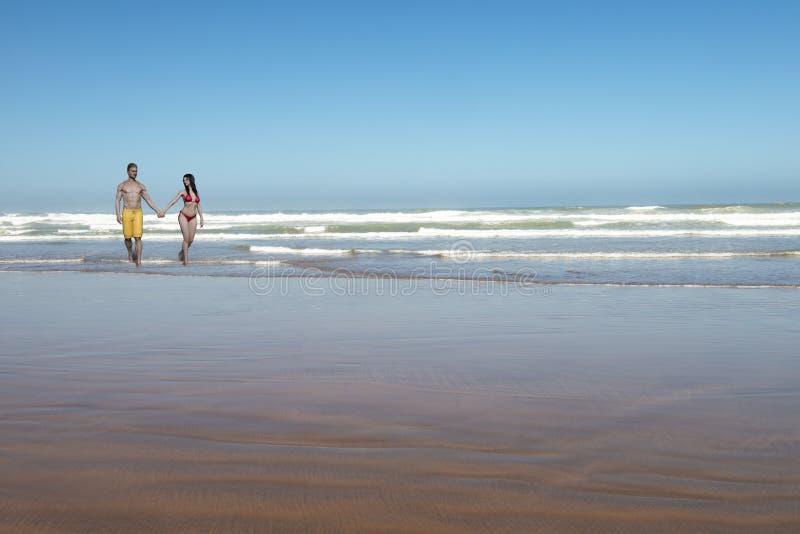 Para, Miłość, Plaża, Ocean, Piasek, Morze, Sandy obrazy stock