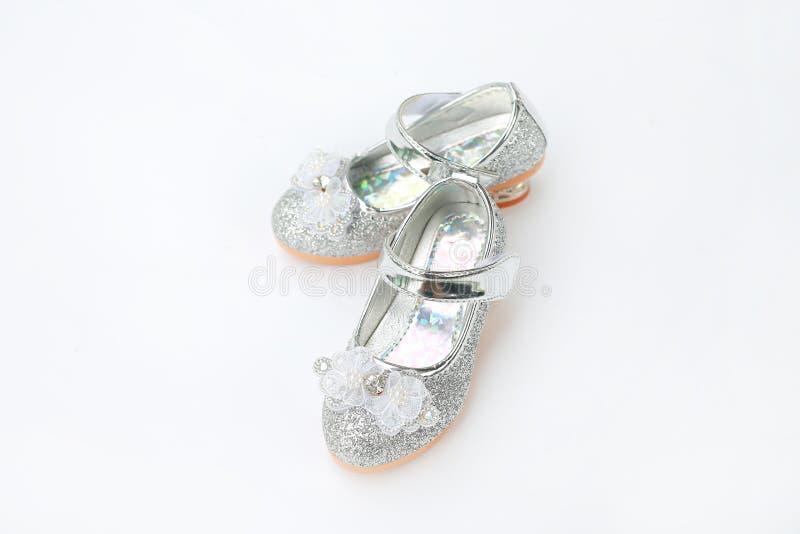 Para mody princess buty na białym tle buty, skarbie zdjęcia stock