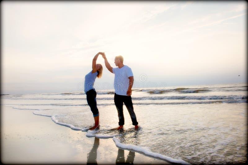 Para na plaży fotografia royalty free