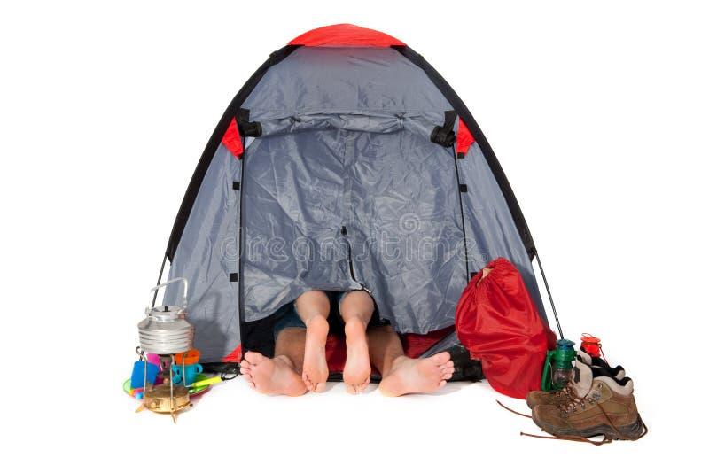 Download Para namiot zdjęcie stock. Obraz złożonej z miłość, target39 - 13327160
