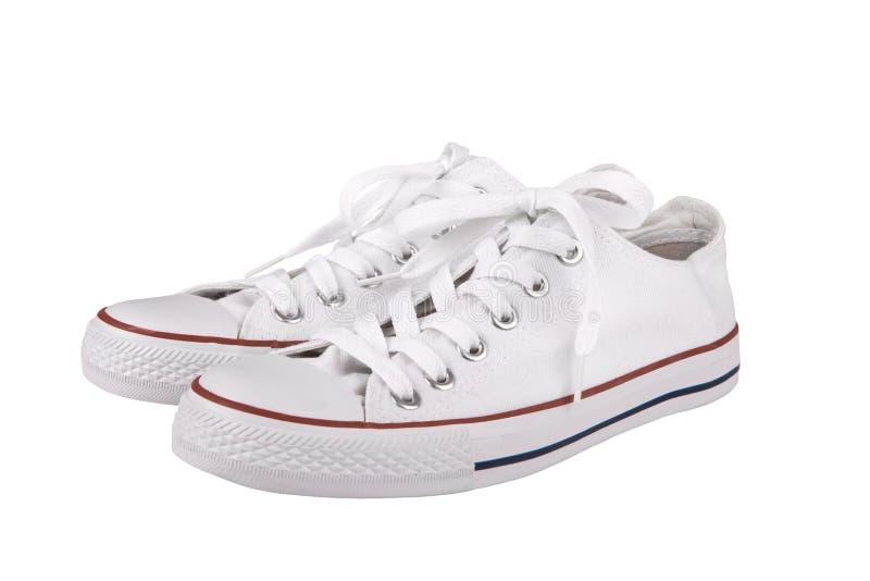 Para nowi biały sneakers zdjęcie stock