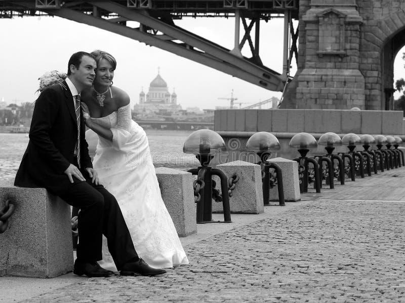 para nowożeńców miłości obraz stock