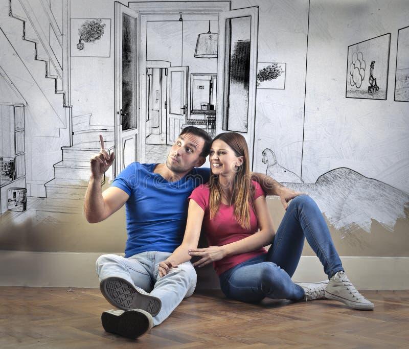 Para nowy dom obrazy stock