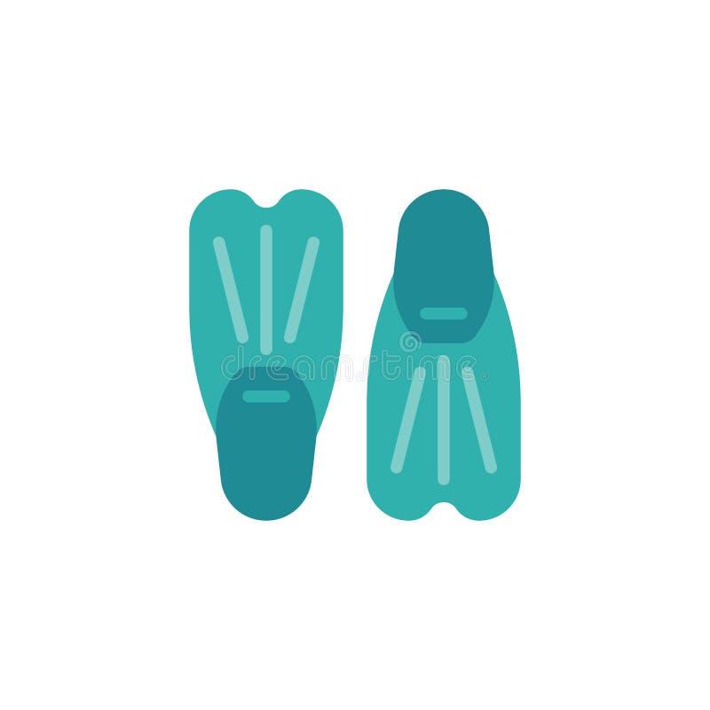 Para nurkowi żebra dla pływackiej płaskiej ikony ilustracja wektor