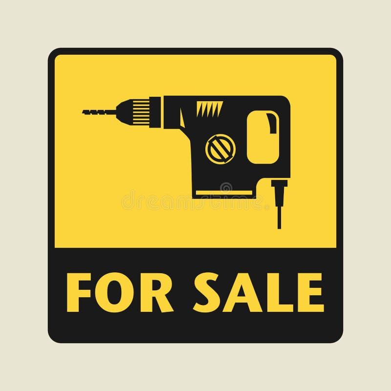 Para o ícone ou o sinal da venda ilustração do vetor