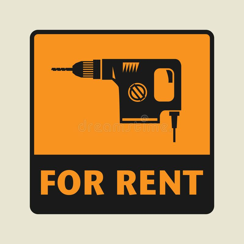 Para o ícone ou o sinal do aluguel ilustração royalty free