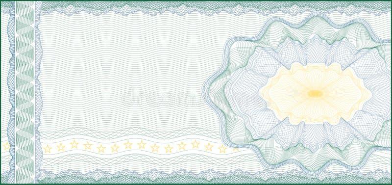 Para o comprovante, o certificado, o vale ou a nota de banco de presente ilustração royalty free