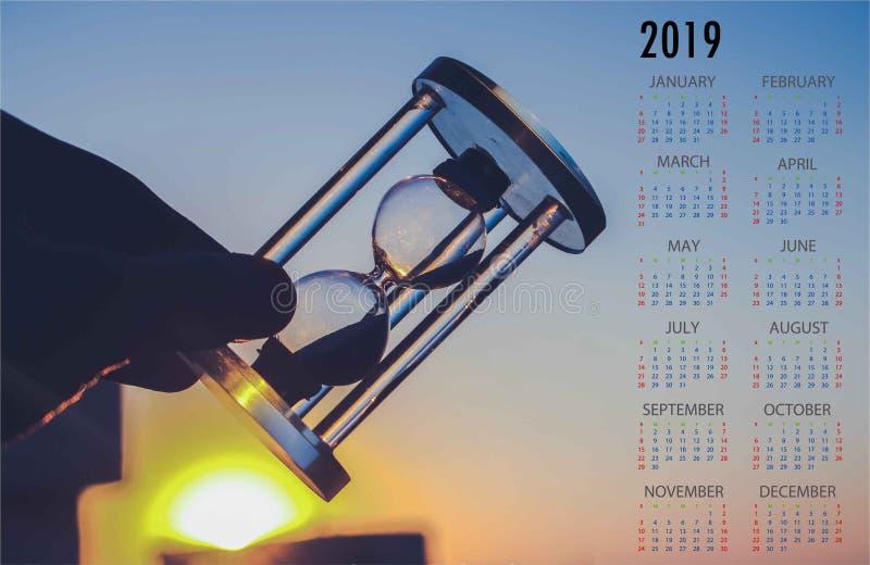 2019 para o melhor calendário ilustração royalty free