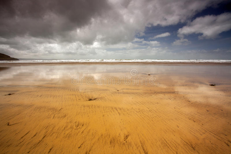 Para o oeste Ho! cena da praia imagem de stock royalty free