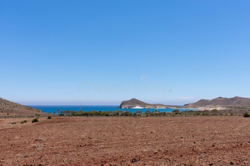 Para o playa de los Genoveses fotografia de stock royalty free