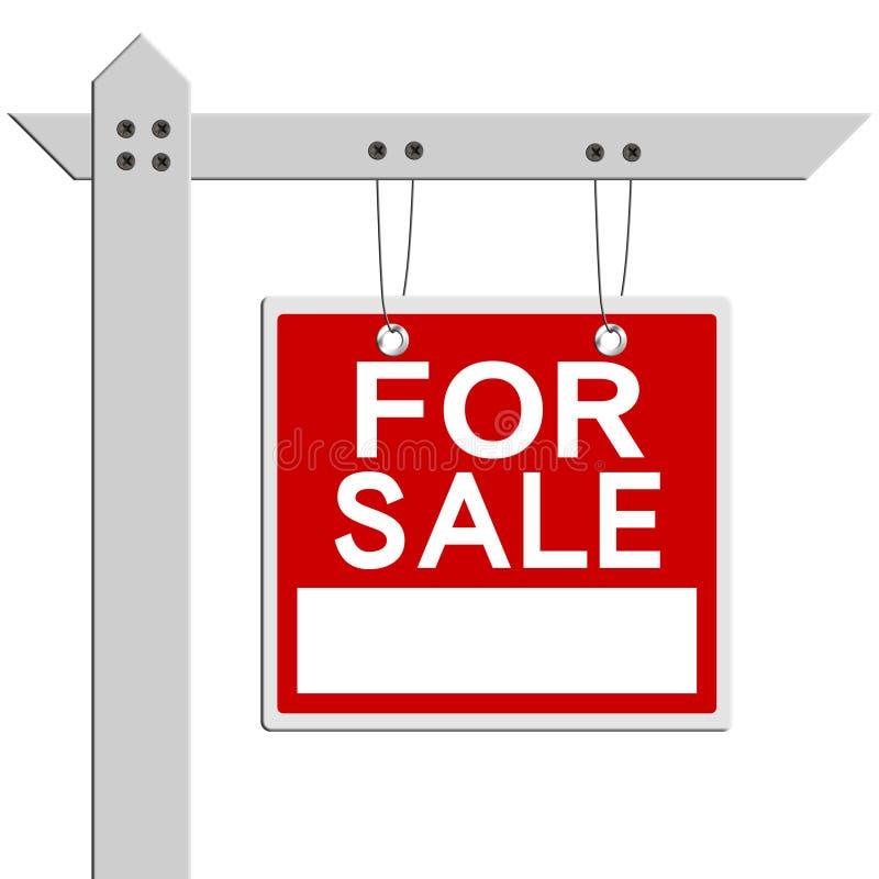 Para o sinal dos bens imobiliários da venda imagem de stock