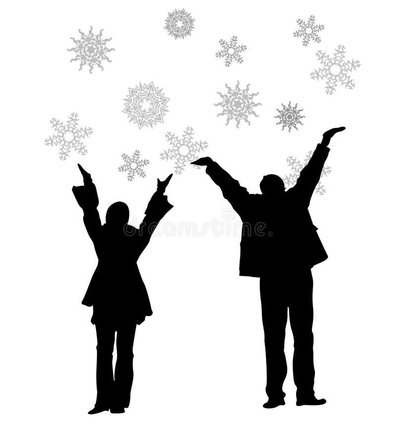 para płatki śniegu royalty ilustracja