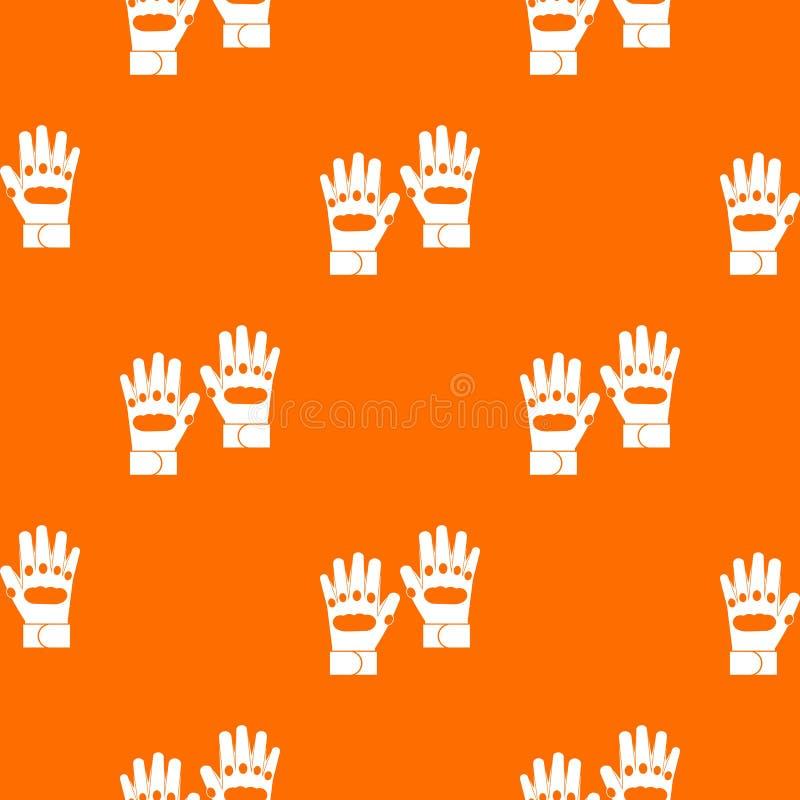 Para paintball rękawiczek wzór bezszwowy ilustracja wektor